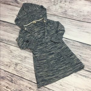 Roxy Short Sleeve Blue Knitted Hoodie